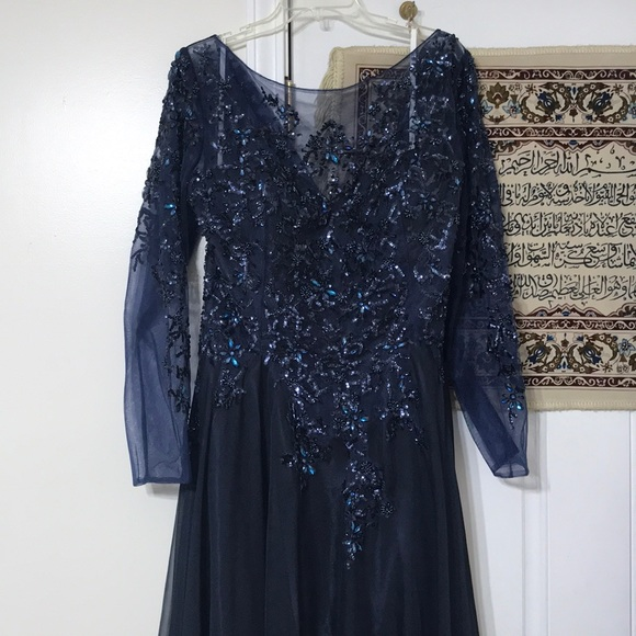 Long Sleeve Wedding Guest Gown